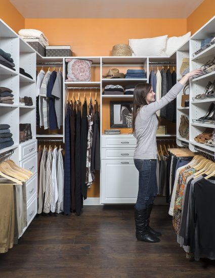 Regular walk-in closet for couples