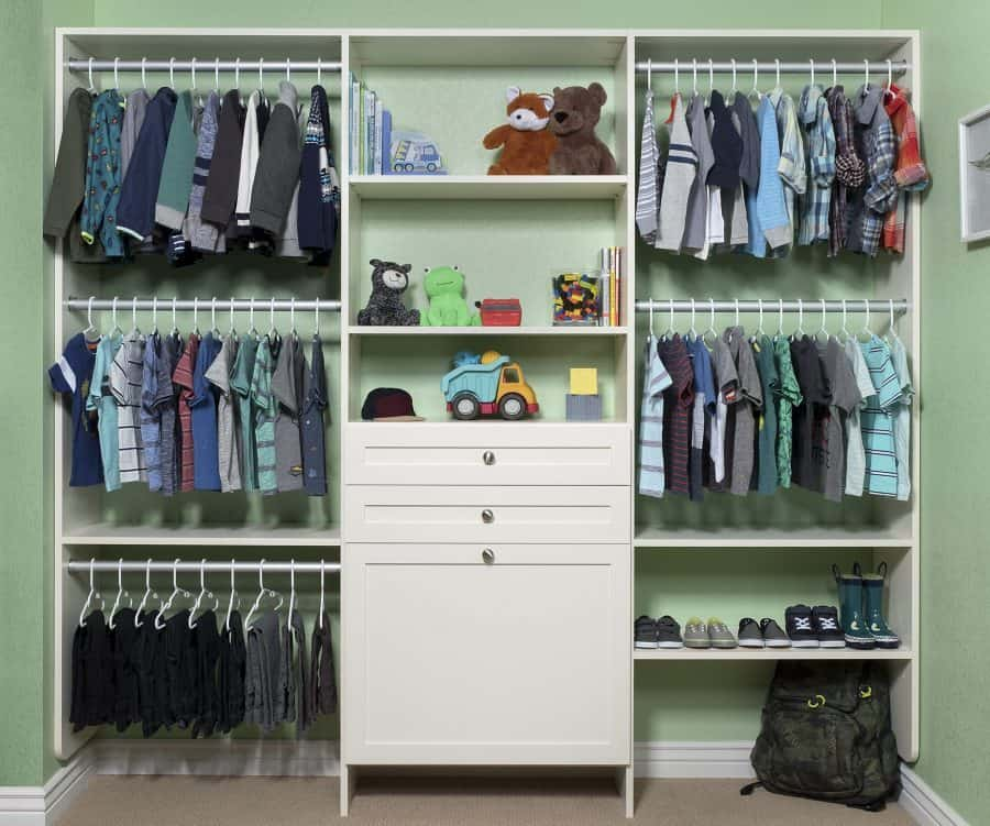 custom kids organized closet