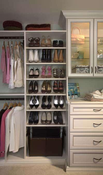 custom closets design in different areas