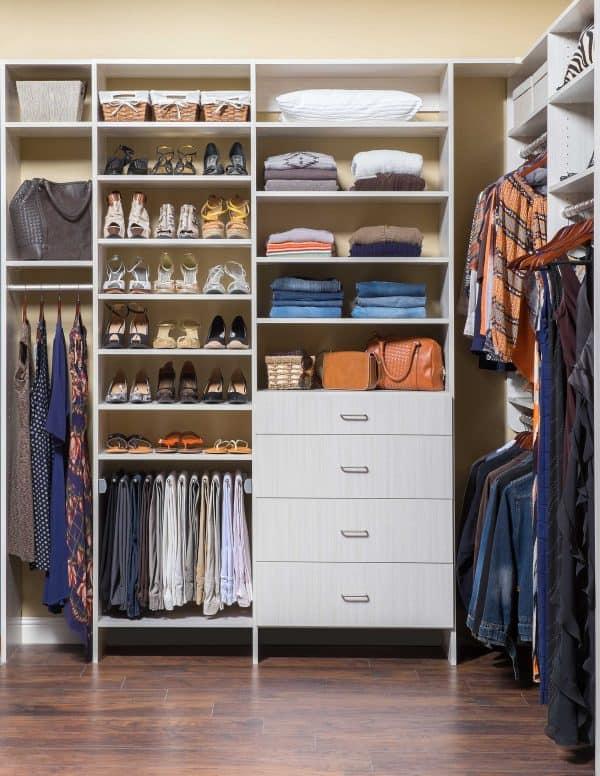 custom small reach-in closets