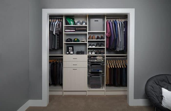 custom reach-in closets for men