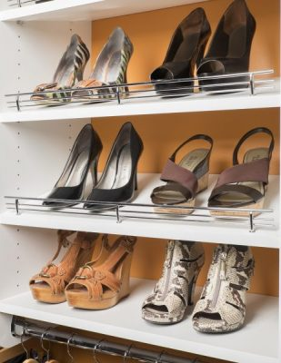 closet accessories with shoe racks