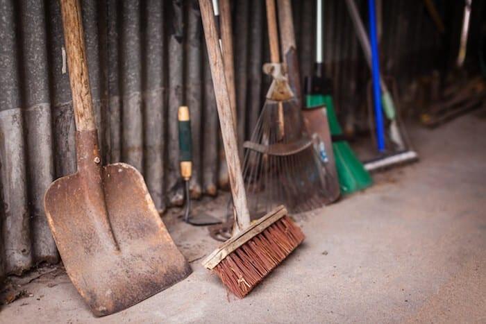 Garage Storage and Organization of garden tools