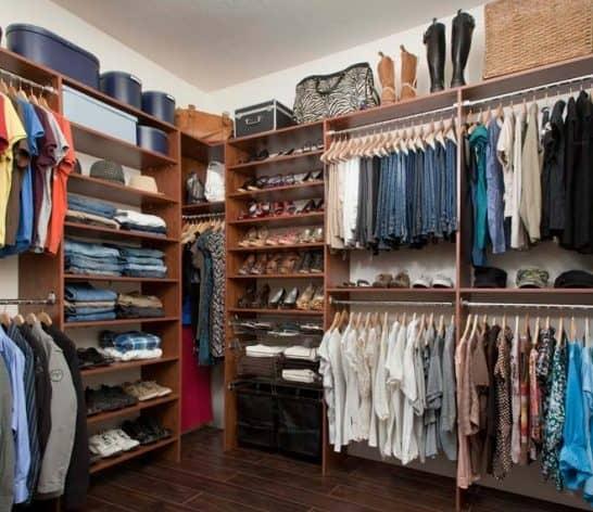 custom walk-in closet design