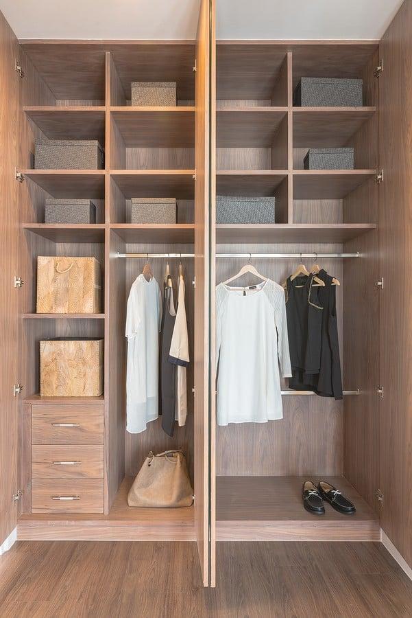 custom designed reach in closet in McLean