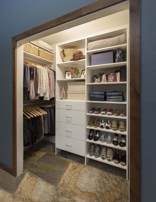 reach-in closets from left side