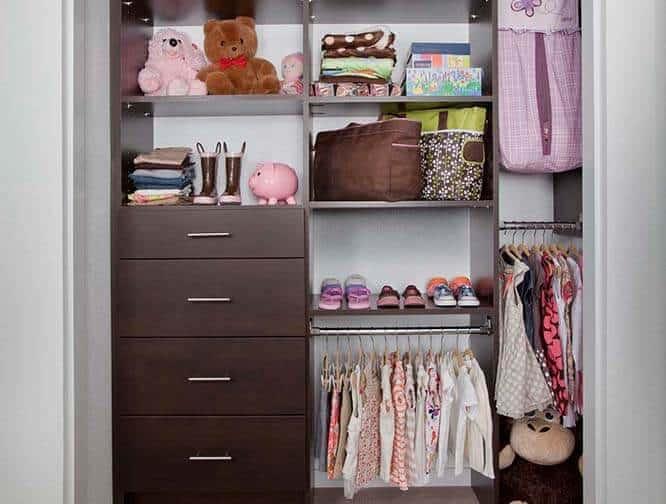 custom girls reach-in closet