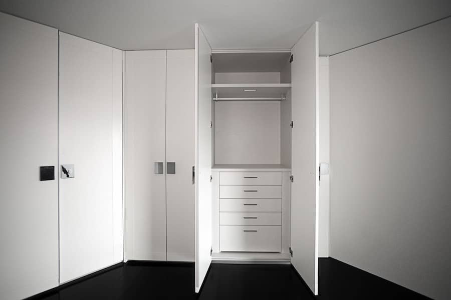 new all white walk in closets