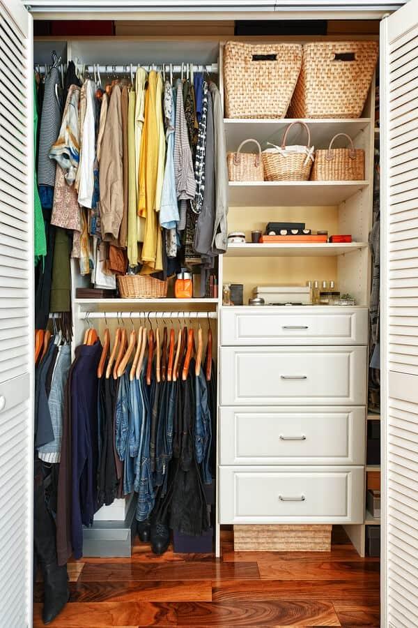 Organized custom closet