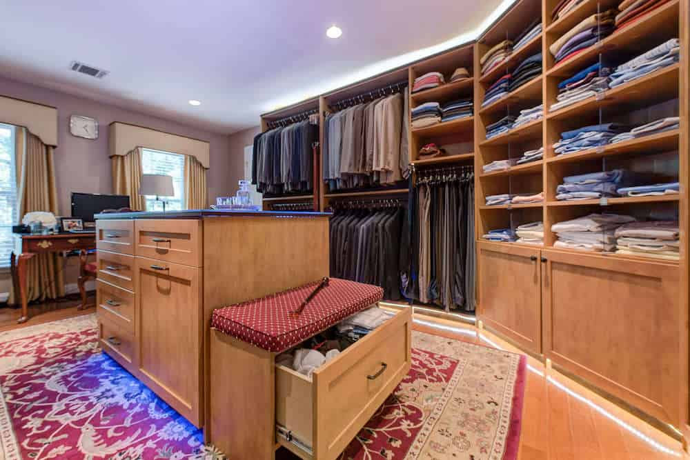 Angle shot of interior of closet