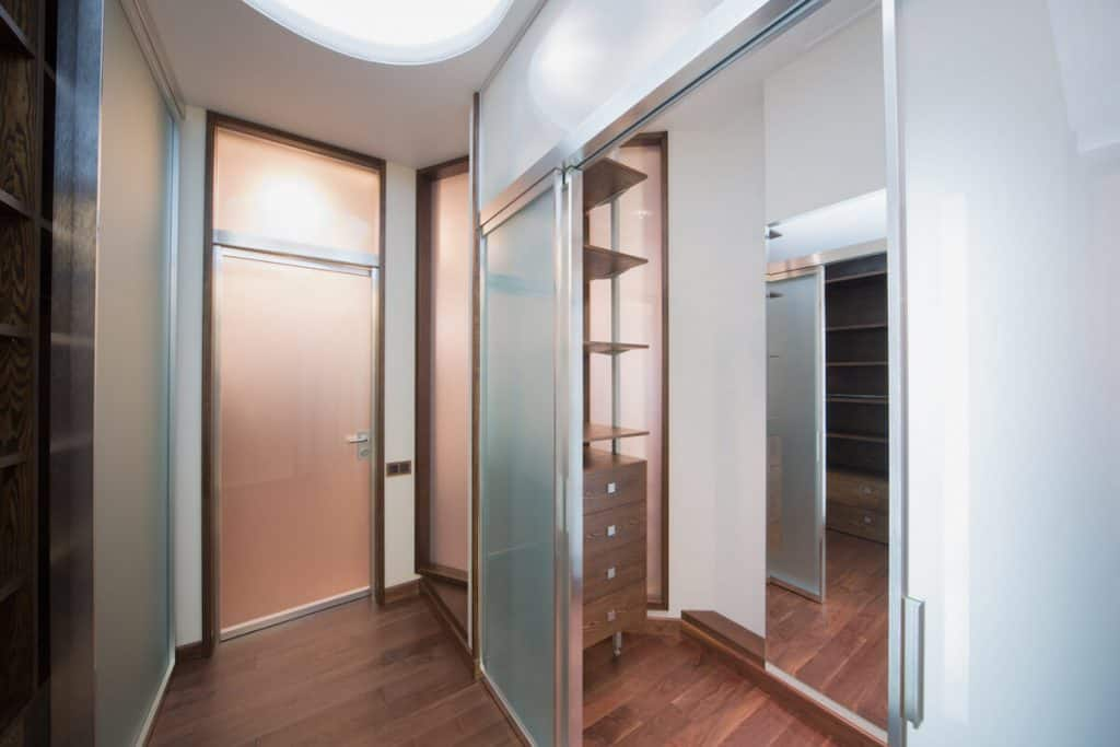 glass doors closet