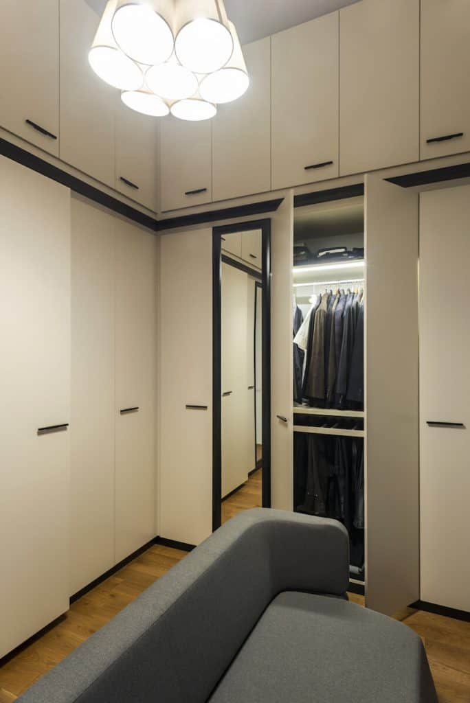 hanging lights in closets
