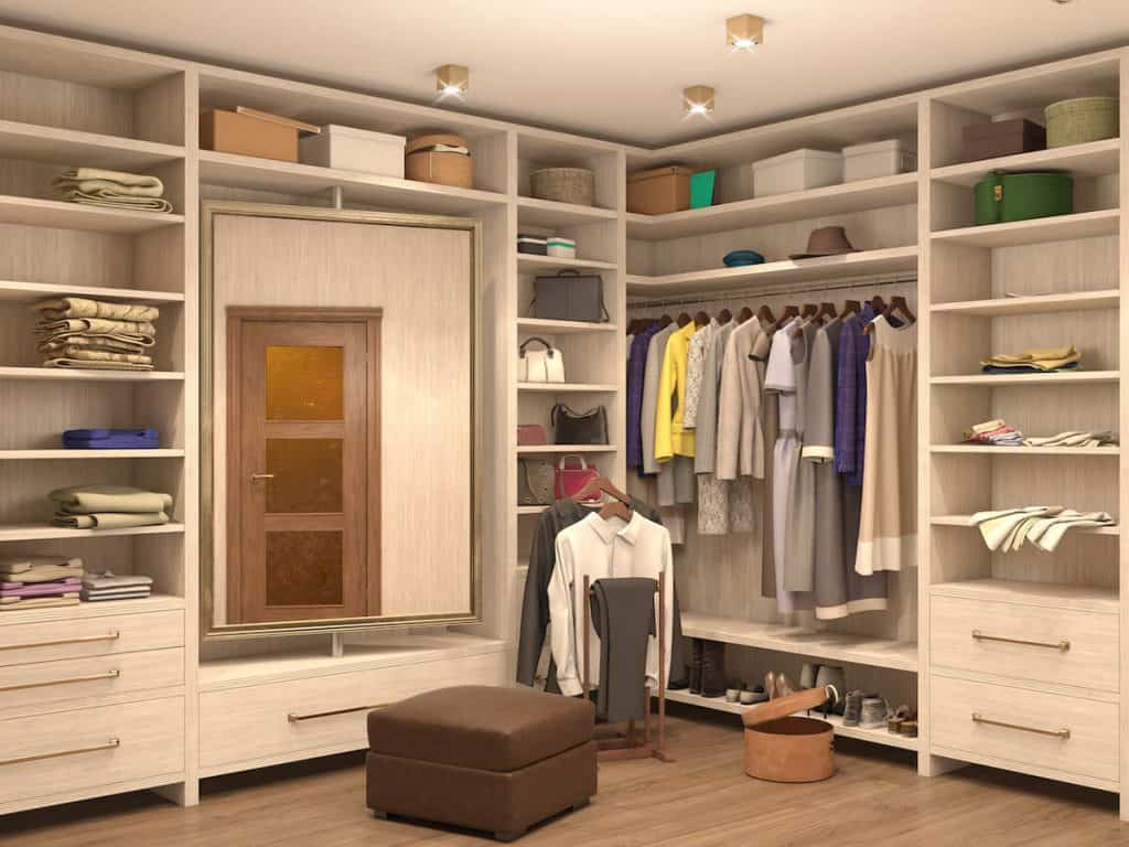 rotating mirror in closets