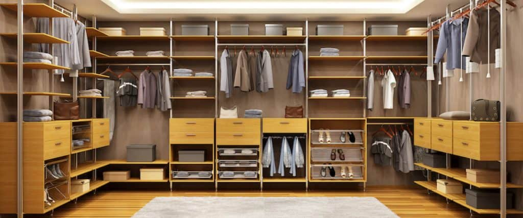 different types of closets