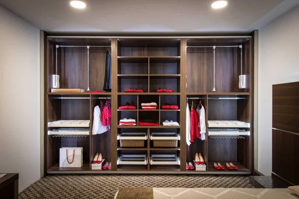 red and white and wood custom closet md dc va