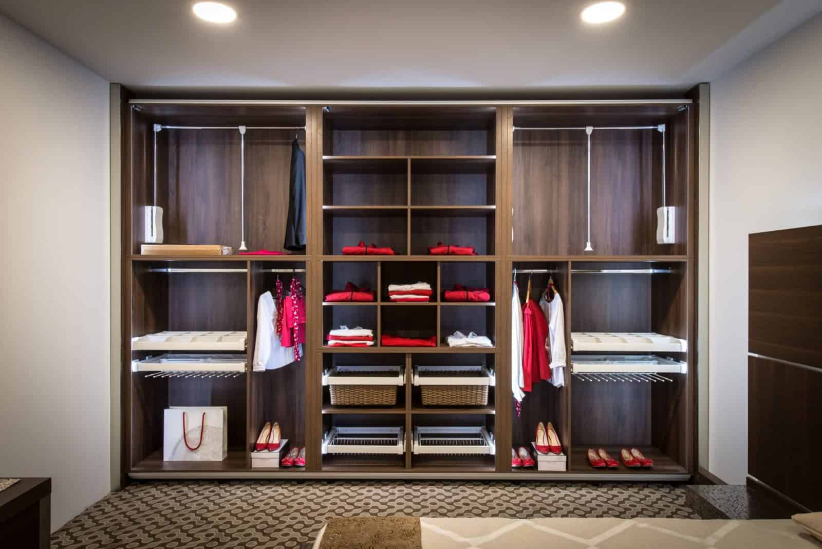 red and white and wood custom closet md dc va