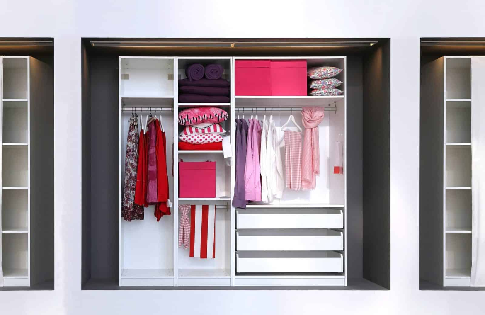 custom closet for showing off your wardrobe space
