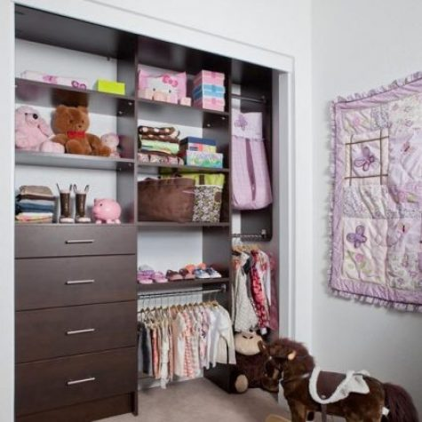custom colorful kids closets