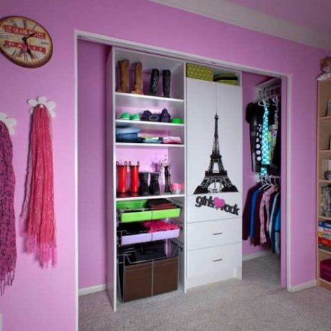 custom closet for girls