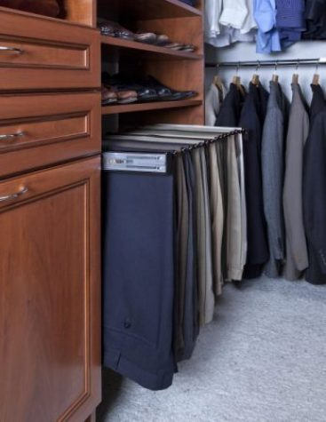 closet accessories with pants rack