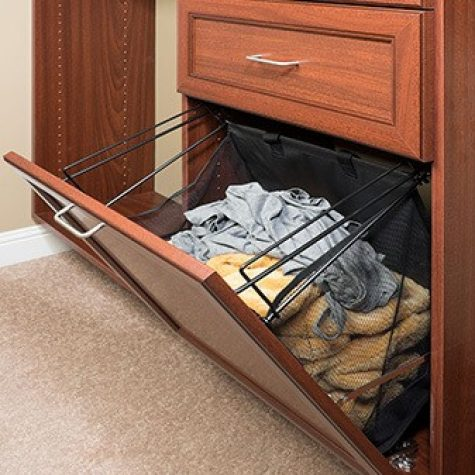 closet accessories with baskets